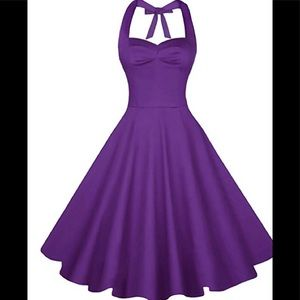 Dresses & Skirts - Purple 50's swing tea dress